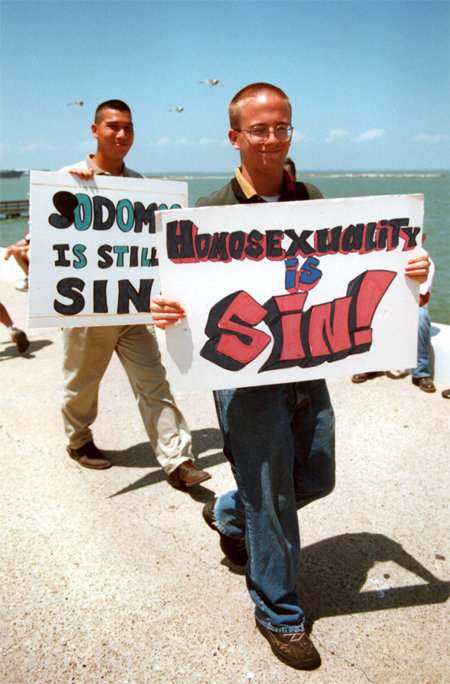 Scenes from the 1998 Corpus Christi Pride Parade (c) 1998 Katrina C. Rose